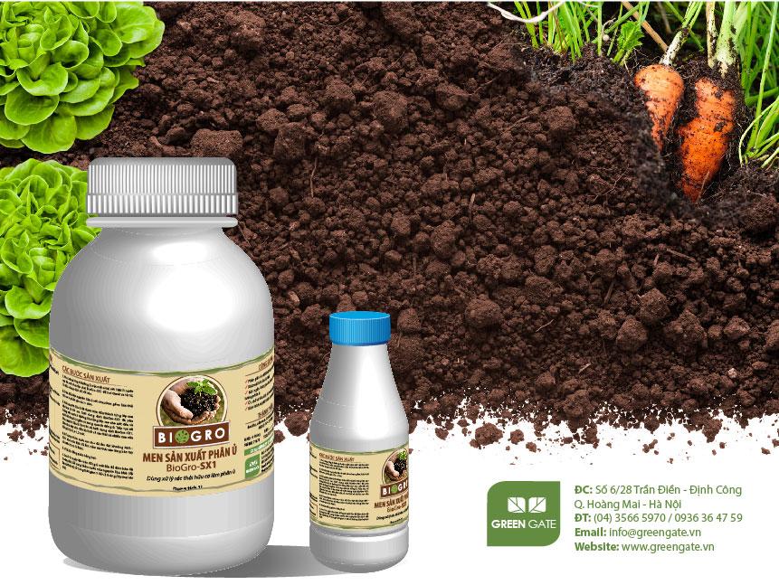 BioGro-SX1 Men sản xuất phân ủ