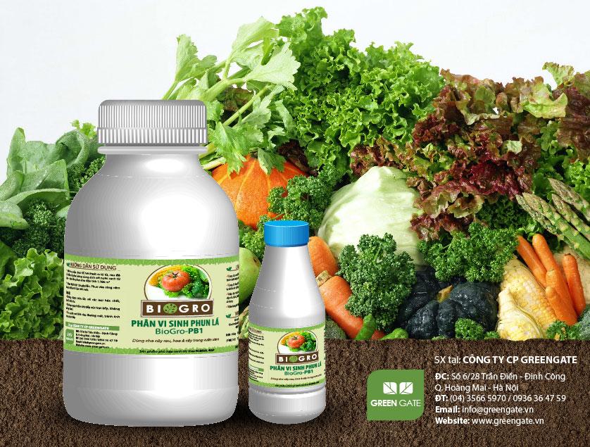 BioGro-PB1 Phân vi sinh phun lá dùng cho cây rau, cây trong vườn ươm